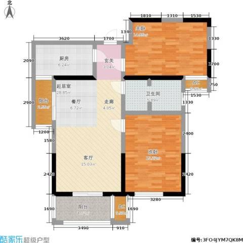 铂廷2室0厅1卫1厨92.00㎡户型图