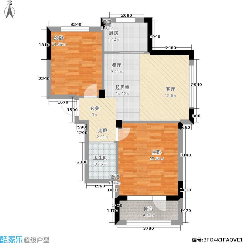 澳海澜庭72.00㎡三期12号楼B2户型