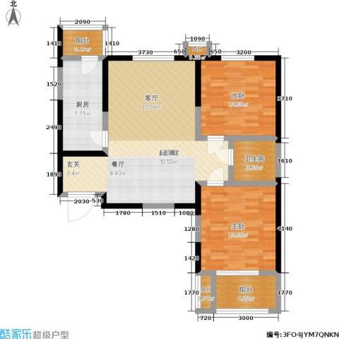 铂廷2室0厅1卫1厨89.00㎡户型图