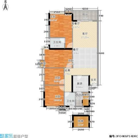 岭南雅苑4室1厅2卫1厨143.00㎡户型图
