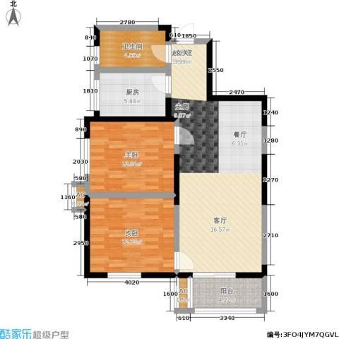 铂廷2室0厅1卫1厨85.00㎡户型图