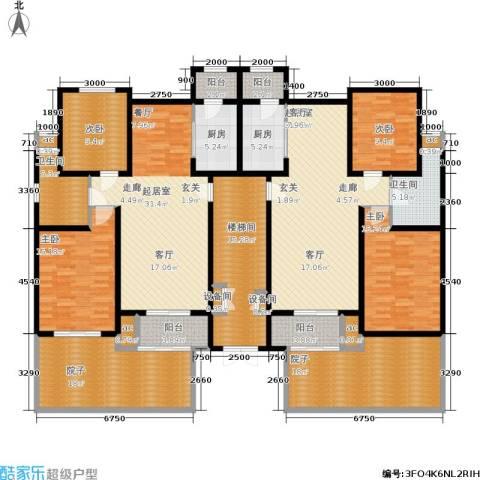 洛卡小镇三期4室0厅2卫2厨227.82㎡户型图