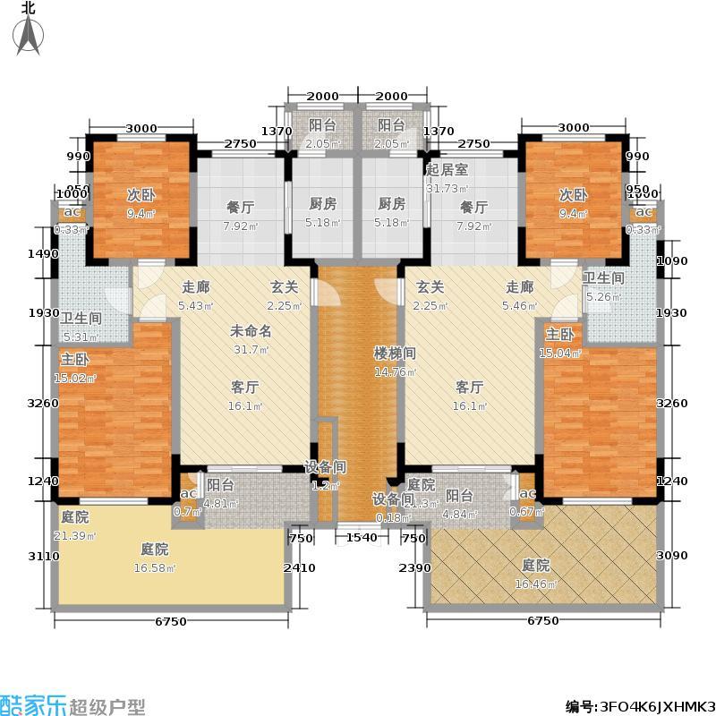 洛卡小镇三期三期S户型1F二室二厅一卫户型