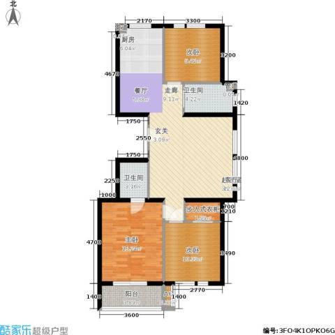 凤城阳光3室0厅2卫0厨96.17㎡户型图