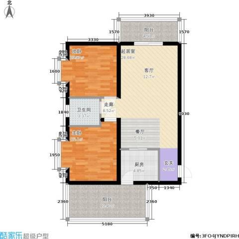 美美佳园2室0厅1卫1厨86.00㎡户型图