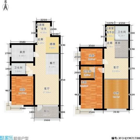 新兴新庆坊3室0厅3卫1厨171.00㎡户型图