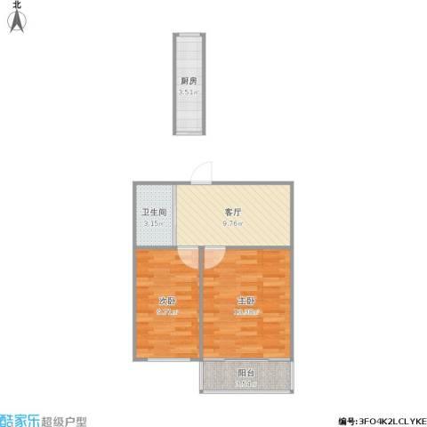 三牌楼小区2室1厅1卫1厨59.00㎡户型图