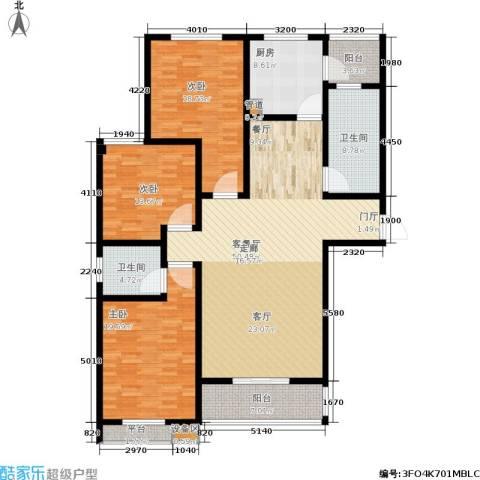天骄华府3室1厅2卫1厨196.00㎡户型图