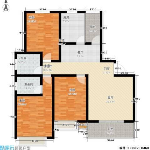 天骄华府3室1厅2卫1厨175.00㎡户型图