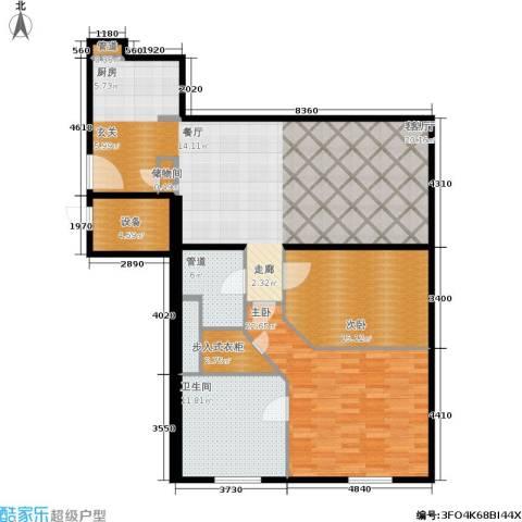 新地国际公寓2室1厅1卫0厨124.00㎡户型图
