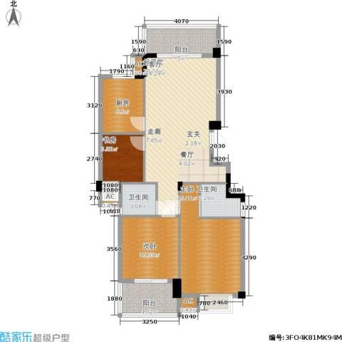 左海帝景3室0厅2卫1厨120.00㎡户型图
