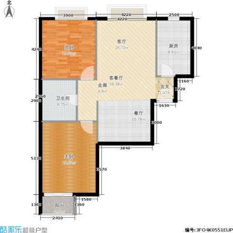 新裕家园2室1厅1卫1厨101.00㎡户型图