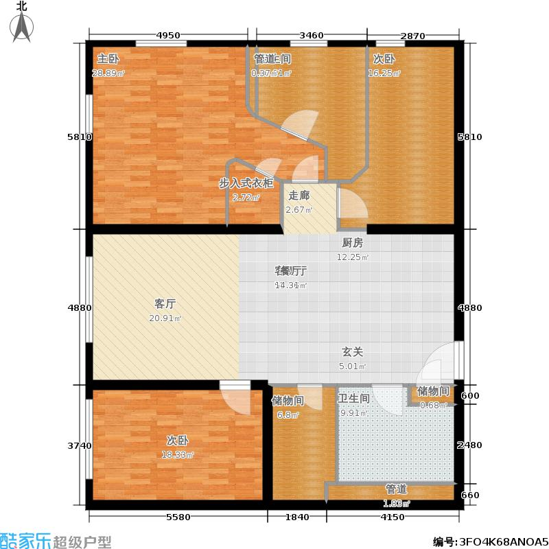 新地国际公寓167.00㎡K户型3室2厅2卫