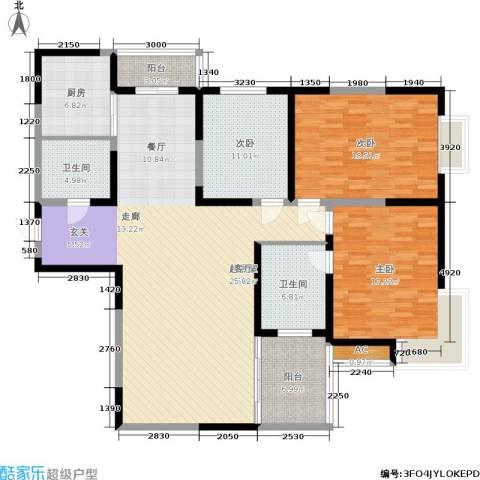 车城温泉花园3室0厅2卫1厨149.00㎡户型图