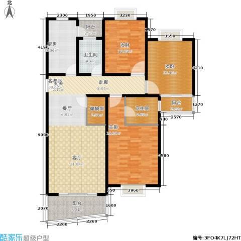 宝虹新苑3室1厅2卫1厨130.00㎡户型图