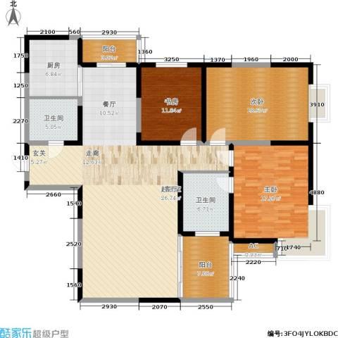 车城温泉花园3室0厅2卫1厨131.80㎡户型图