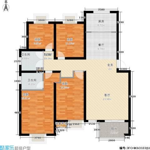 万达高尔夫花园4室1厅2卫1厨170.00㎡户型图