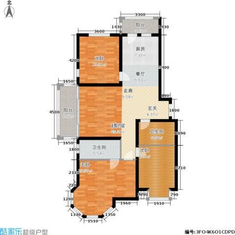 群力观江国际3室0厅2卫0厨152.00㎡户型图