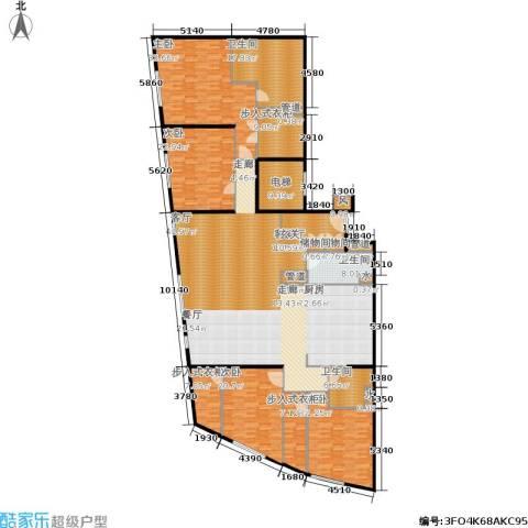 新地国际公寓4室1厅3卫0厨305.00㎡户型图