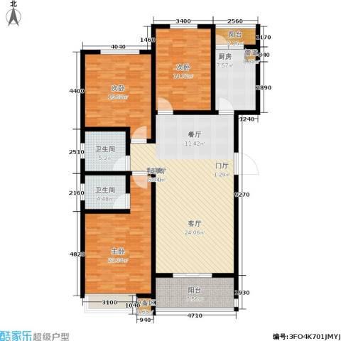 天骄华府3室1厅2卫1厨174.00㎡户型图