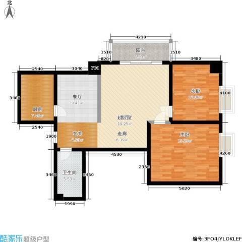 车城温泉花园2室0厅1卫1厨103.00㎡户型图