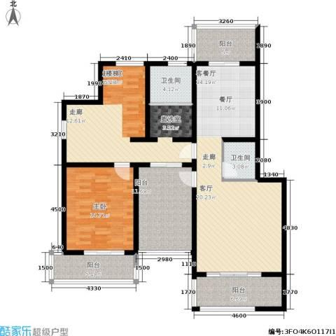 万达高尔夫花园1室1厅2卫0厨155.00㎡户型图