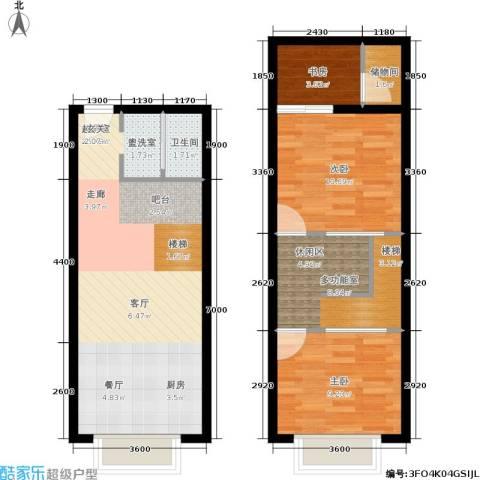 UP生活3室0厅1卫0厨61.66㎡户型图