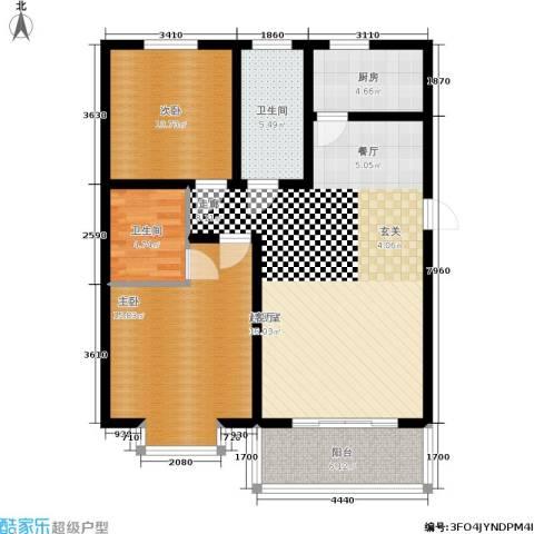 美美佳园2室0厅2卫1厨90.00㎡户型图