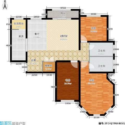 香江湾3室0厅2卫1厨153.00㎡户型图