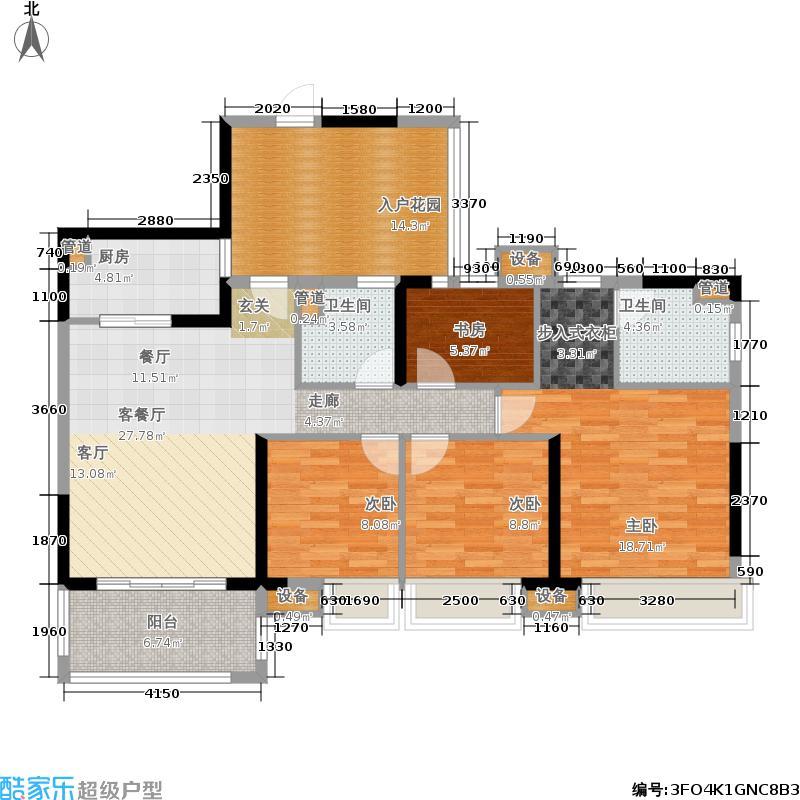 中交龙海名都一期129.00㎡67楼-010户型