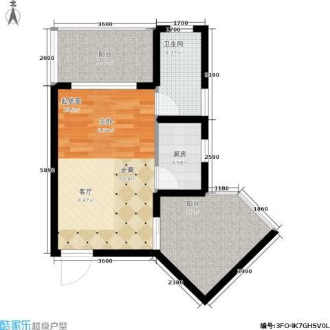 海韵・陵河假日1卫1厨52.00㎡户型图