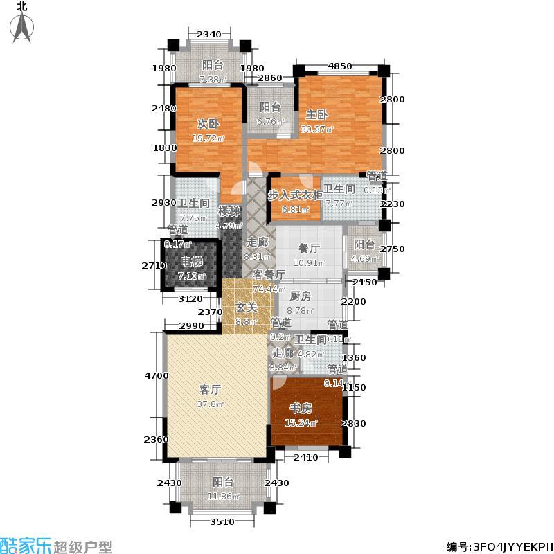 中海凤凰熙岸241.00㎡一期6号楼1-24层C5D2户型