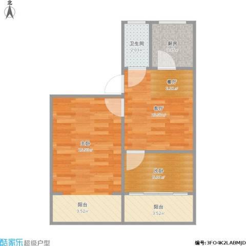 集虹苑2室1厅1卫1厨55.00㎡户型图