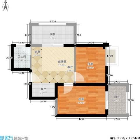 东方罗马花园2室0厅1卫1厨63.00㎡户型图