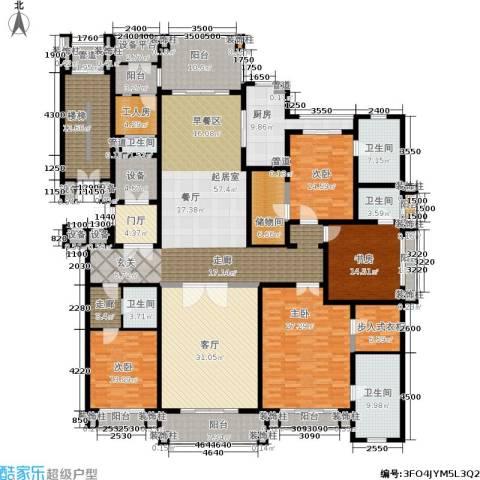 荣禾曲池东岸4室1厅5卫1厨307.00㎡户型图