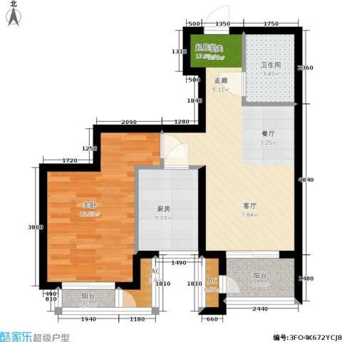 青年城1室0厅1卫1厨66.00㎡户型图