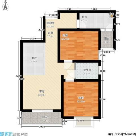 金色花语城2室0厅1卫1厨91.00㎡户型图