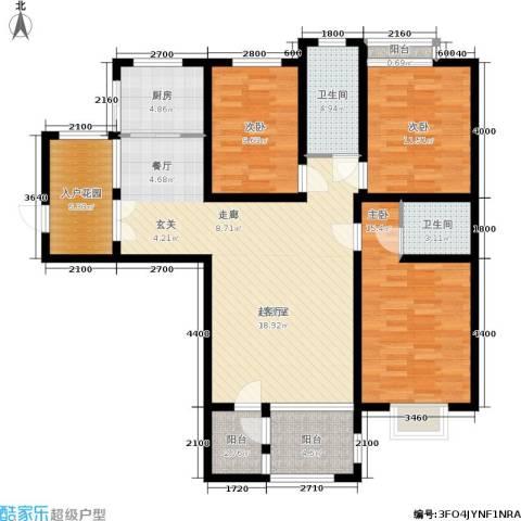 阳光新地3室0厅2卫1厨144.00㎡户型图