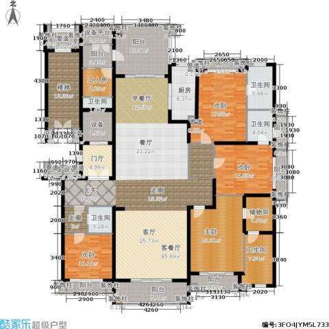 荣禾曲池东岸4室1厅5卫1厨263.00㎡户型图