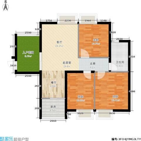 泰和御景豪庭3室0厅1卫1厨99.00㎡户型图