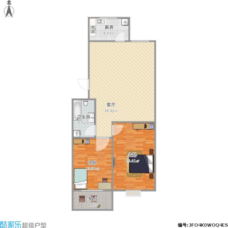 盛世兰亭90方A1两室一厅
