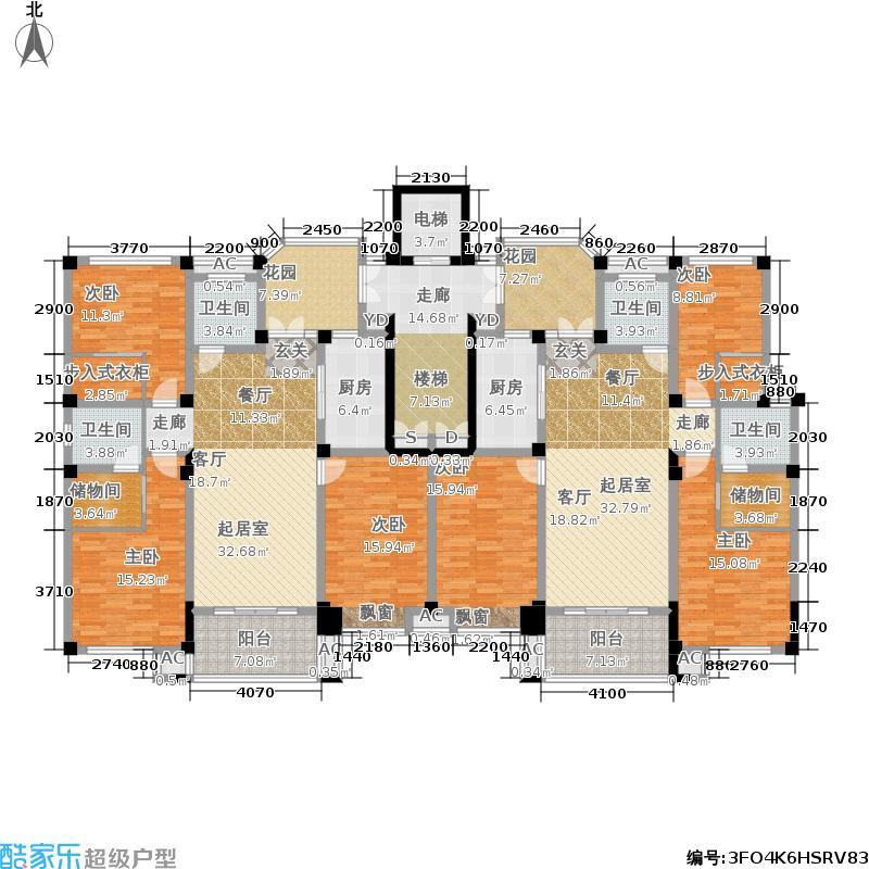 新能源新城市豪庭户型A26室4厅4卫281.00㎡