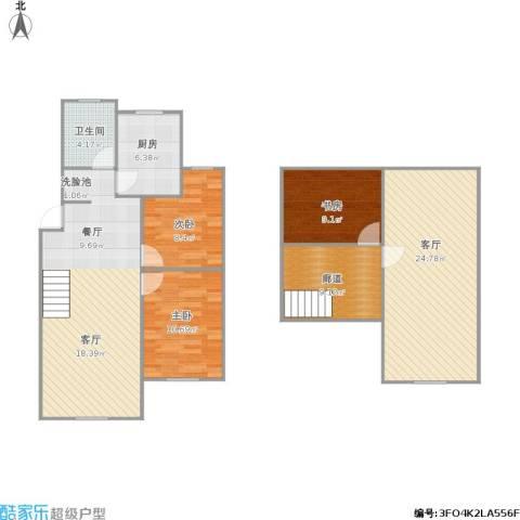 297607馨泰花苑3室1厅1卫1厨106.64㎡户型图