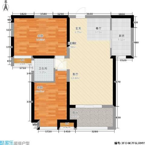 金业观湖大第2室0厅1卫1厨94.00㎡户型图