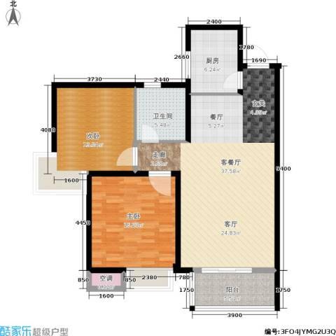 泰和御景豪庭2室1厅1卫1厨94.00㎡户型图