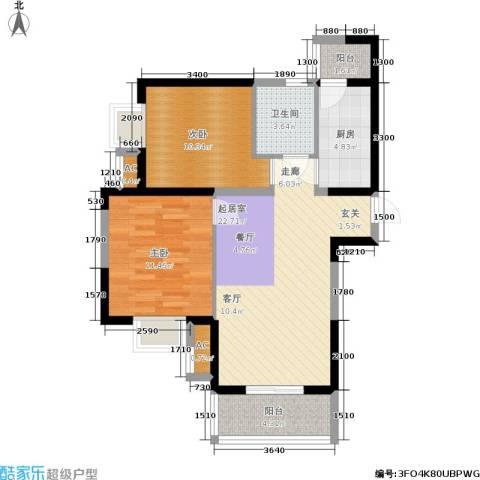 锦翔梧桐坊2室0厅1卫1厨82.00㎡户型图