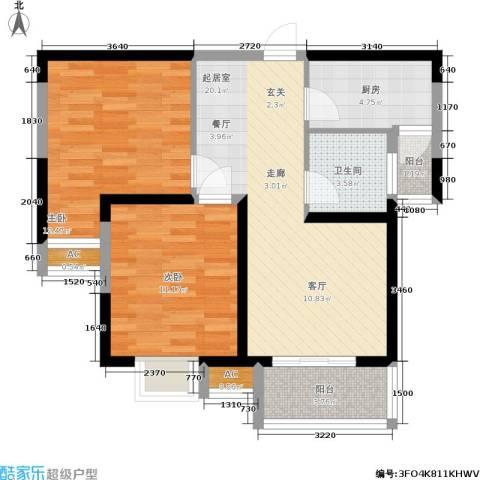 锦翔梧桐坊2室0厅1卫1厨80.00㎡户型图