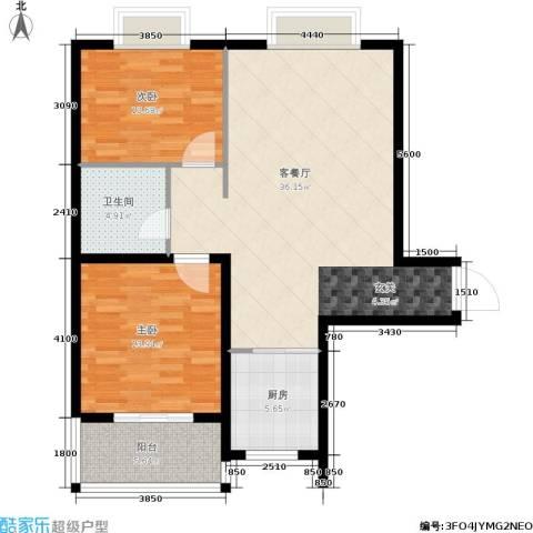 泰和御景豪庭2室1厅1卫1厨84.00㎡户型图