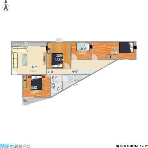 丰润花园4室1厅1卫1厨111.00㎡户型图