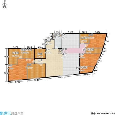 新地国际公寓4室1厅3卫0厨304.00㎡户型图